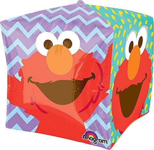 Anagram International Sesame Street Elmo Cubez Ballon Pack, 38,1cm Multicolor