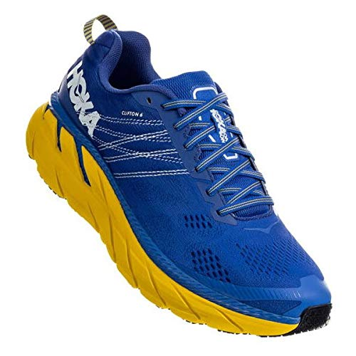 HOKA Clifton 6, Scarpe Running Uomo, Blu (NebulasBlue/Lemon NBLM), 44 2/3 EU