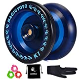 YOSTAR Responsive YoYo Magic YOYO K1-Plus with Yoyo Bag/Sack + 3 Strings and Yo-Yo Glove Gift (Dark Blue)