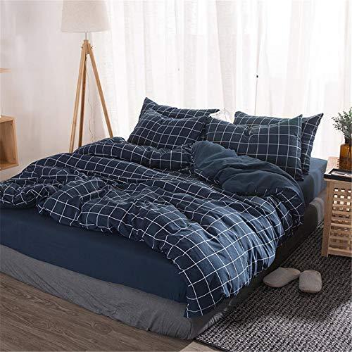DUJUN Bettbezug aus gewaschener Baumwolle, Mikrofaser-Bettgarnitur (4er-Set), maschinenwaschbar ohne Verformung A-8 220 * 240cm+245 * 250cm+(48 * 74cm)*2
