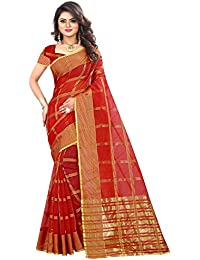 Lilots Cotton Saree With Blouse Piece (grt-1293_Red_Free Size)
