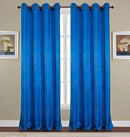 RT Designer Collection pna08480Azure Rod Pocket Fenster Panel, Royal Blau, 137,2x 228,6cm