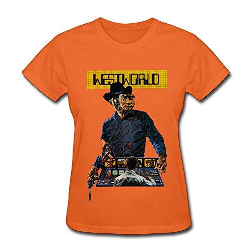 aopo WESTWORLD Season 1T-Shirts für Frauen XS Orange