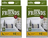 Friends Classic Underpads, Large 60 X 90 cm, Super Absorbent Polymer & Soft Surface, 20s Value