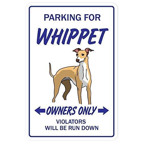 Toddrick Whippet Dog pet Parking Hound Boarding Kennel Breeder Zinn schicke Zeichen Vintage-Stil Retro Küche Bar Pub Coffee Shop Dekor 8