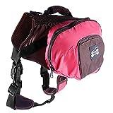 WLDOCA Tragbar Hund Rucksack,Einstellbar Hund Sattel Tasche Geschirr Träger,Für Reisen Wandern Camping,Pink