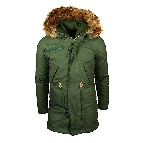 Alpha Industries Vintage Fishtail Parka Olive, Gre -