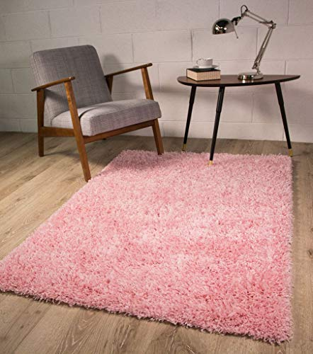 The Rug House Alfombra Ontario de Color Rosa Brillante Antideslizante Super Suave Pelo Alto - Disponible...