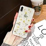 Bakicey iPhone Xr Hülle, iPhone Xr Handyhülle Getrocknete blumen Kristall Gel Schutzhülle Ultradünn Handgefertigt Immerwährende Blume Bumper Case Cover Schale Schutz hülle für iPhone Xr(F)