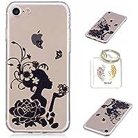 Hülle iPhone 8 Hülle iPhone 7 TPU schutz silikonhülle, niedlichen cartoon bild transparent handy Hülle für iPhone 8 / 7 (4.7 Zoll) + schlüsselanhänger (* / 154)
