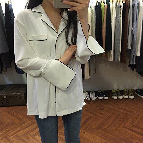 2017 Cystyle Femme Pyjama Bouton Chemise Sexy Vêtements De Nuit 1 Pcs Blanc
