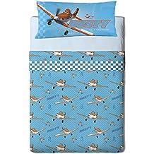 Disney Planes Heroes - Juego de sabanas 3 piezas para cama de 105 cm