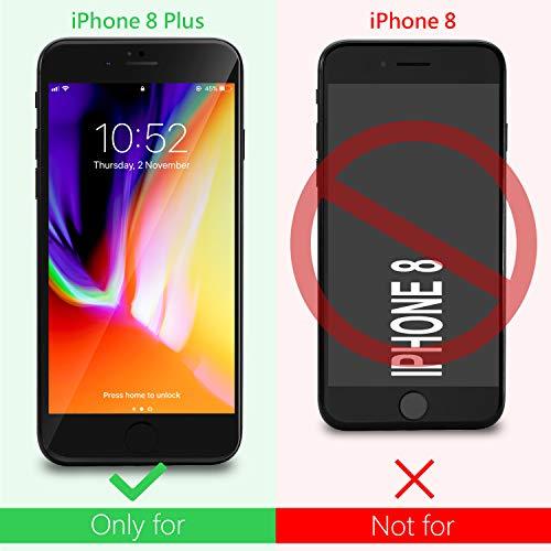 "9x Funda iPhone 8 Plus, Leathlux Carcasa iPhone 8 Plus Silicona Ultra Fina TPU Gel Protector Flexible Cover Funda para iPhone 8 Plus 5.5"" Rosa Verde Púrpura Amarillo Rojo Azul Oscuro Translúcido Negro"