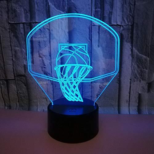 Acryl Basketball Optische Täuschung 3D Lava Lampe Kreative 7 Farbwechsel LED 3D Nachtlicht RGB Tischlampe Geschenk Spielzeug han-10535