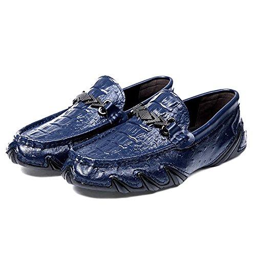 Hongjun-shoes, Frühjahr/Sommer 2018 Herren Mokassins, Mens Bottomed Leisure Loafers Casual ist Eine Neue Art von Krokodil Brock Business British Fashion Ein Bad Bein ist Ein fauler Fuß Boot Mokassins (Bekleidung Fauler)