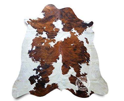 Sunshine Cowhides Teppich aus Kuhfell, Farbe: Tricolor TC1 Größe Circa 180 x 210 cm, Premium - Qualität von Pieles del Sol aus Spanien
