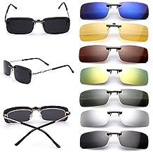 Gafas de sol polarizadas de clip, UV400, para conducción, aire libre, antirreflejos