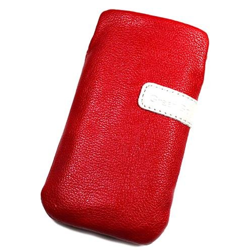 Schutzhülle Tasche Lederoptik rot x für Orange Barcelona
