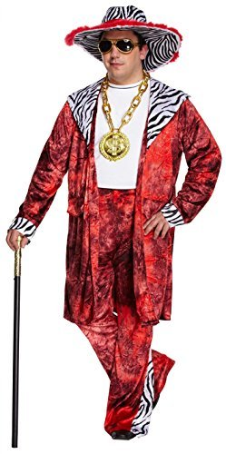 70s Pimp Costume. Standard or XL for Adult.
