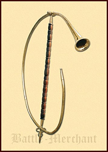 Cornu, römisches Horn aus Messing Historisches Blasinstrument Musikinstrument LARP Wikinger Mittelalter