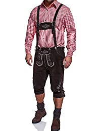 MT Styles Trachten Leder Kniebundhose abnehmbaren Hosenträger 46-48-50-52-54-56-58-60-62-64