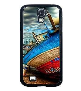 PrintVisa Designer Back Case Cover for Samsung Galaxy S4 Mini I9195I :: Samsung I9190 Galaxy S4 Mini :: Samsung I9190 Galaxy S Iv Mini :: Samsung I9190 Galaxy S4 Mini Duos :: Samsung Galaxy S4 Mini Plus (Boat Painting Art on Sea )