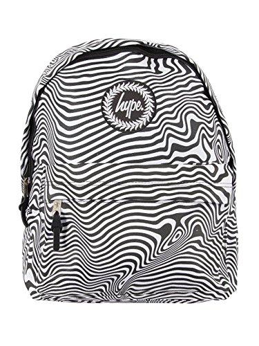 Hype Herren Zebra Warp Logo Rucksack, Schwarz, One Size (Edge-zebra)