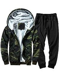 POLP Chándal para Hombre otoño Invierno Color Camuflaje Sudadera Top  Pantalones Conjuntos chándal Conjuntos Deportivos para 23e43694dffd
