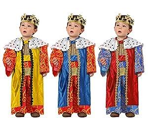 Atosa-32128 Atosa-32128-Disfraz Rey Mago niño bebé-Talla Color Surtido-Navidad, Multicolor, 0 a 6 Meses (32128)