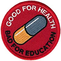 Titan One Europe Akira Good for Health Bad for Education Japanese Anime EMO Punk Scifi Patch