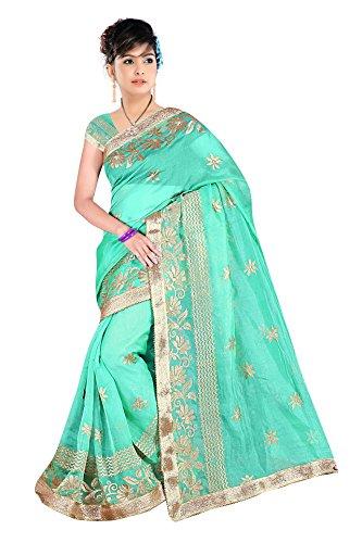 Bani Thani Sarees Linen Saree (Wrk3001_Pista Green)
