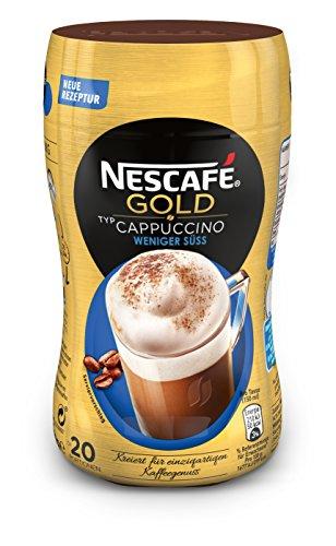 Nescafe Gold Typ Cappuccino Weniger Süß, löslicher Bohnenkaffee (aus erlesenen Kaffeebohnen, koffeinhaltig, mit extra viel Schaum) 1 Dose (1 x 250g)