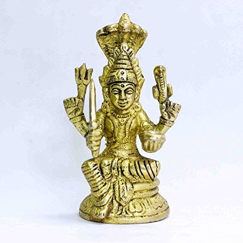 Santoshi Maa Devi (9 cm high) in Pure Brass by The Holy Mart | Santoshi Maa ki Murti