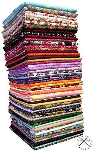 20x FQ 's verschiedene Mehrfarbig Blumenmuster Quilting Stoff-100% Baumwolle-45,7x 55,9cm Zoll-Fat Quarter Bundle -
