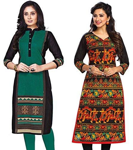 Jevi Prints Women's Cotton Dress Material (Kavya-1211-Saheli-1505_Free Size_Multi-Coloured)