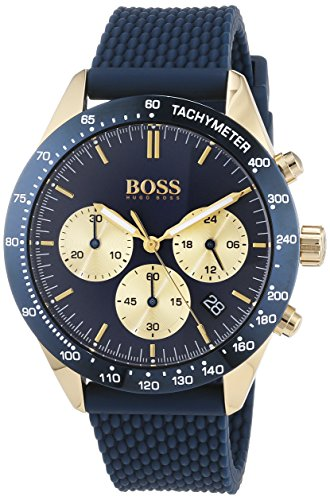 Hugo BOSS Unisex-Adult Chronograph Quartz Watch with Silicone Strap 1513600