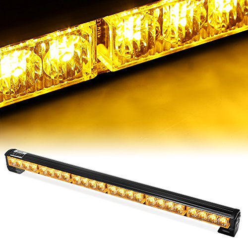 satzfahrzeug Blitzleuchte Lichtbalken Stroboskoplicht Warnleuchten Auto Blitzlicht LED Autolampe auto PKW / LKW led warnblinkleuchte super bright (Gelb) (Led Blitzleuchten)