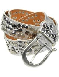 Bags4Less Nieten Gürtel / Nietengürtel / Model LK_187 auch in Übergrössen (Silber 95cm)