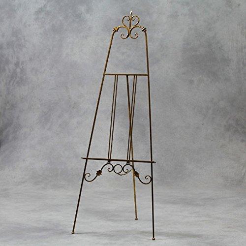 Groß 170cm antik gold Metall Staffelei freistehend Hochzeit Malerei