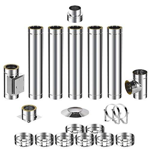 ADT Diamantwerkzeuge GmbH Kit de montage pour cheminée en acier inoxydable DW 150 6,2m 0,5