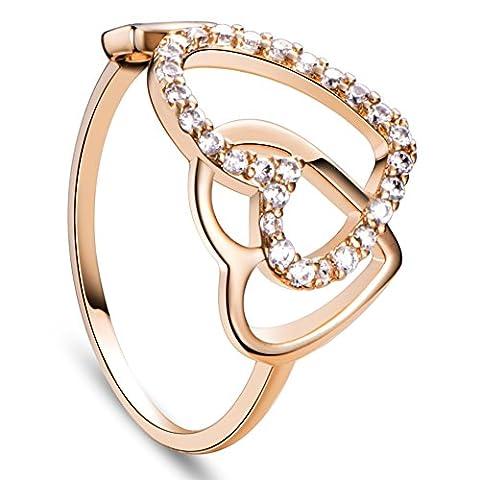 heart adorable Umwelt 18 k vergoldeten Messingmanschettenringe, mit Mikro pflastern AAAZircon, golden Ring Ringe