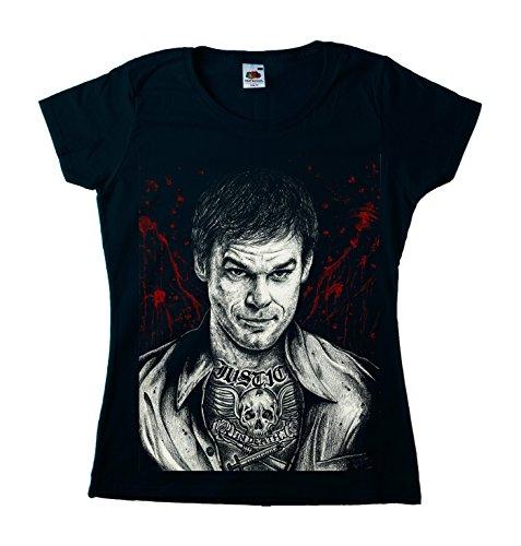 Dexter Girly tätowiert Damen T-Shirt Schwarz