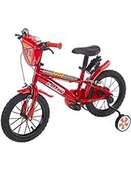 Vélo 14'' garçon licence Cars - 2 freins avec porte-bidon + bidon arrière