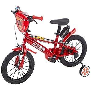 "51wZvlHmLrL. SS300 Disney Bicicletta 14"" Cars 3, Bambino, Rosso"