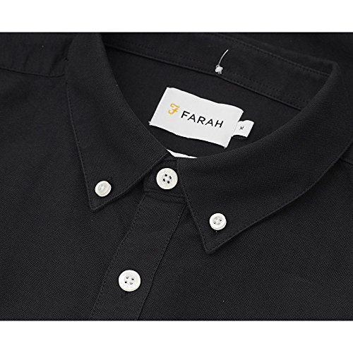 Farah Vintage BREWER - Chemise casual - Manches longues - Homme Black