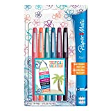 Paper Mate Flair stylos feutre, pointe moyenne, couleurs tropicales, lot de 6