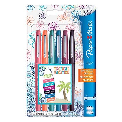 paper-mate-flair-filzstifte-mittlere-spitze-tropische-farben-6er-packung