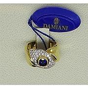 DCL02140 Anello Damiani Donna Materiale Zaffiro Anello in oro 18 Kt Diamanti taglio brillante CT 0.60 colore H Zaffiro CT 0.80 Misura15