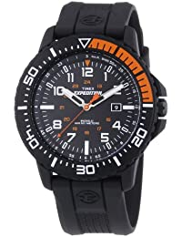 timex watches shop amazon uk timex expedition men s t49940 quartz watch black dial analogue display and black resin strap