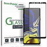 amFilm Verre Trempé pour Galaxy Note 9, Couverture Complète Film Protection écran pour Samsung Galaxy Note 9 (Noir)